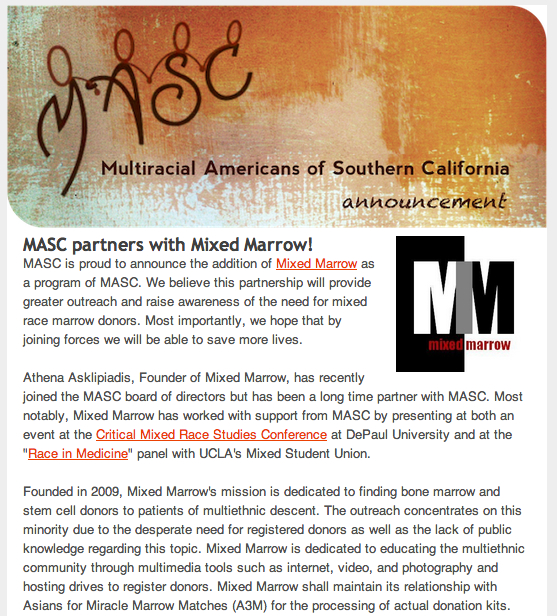 MASC Mixed Marrow Announcement