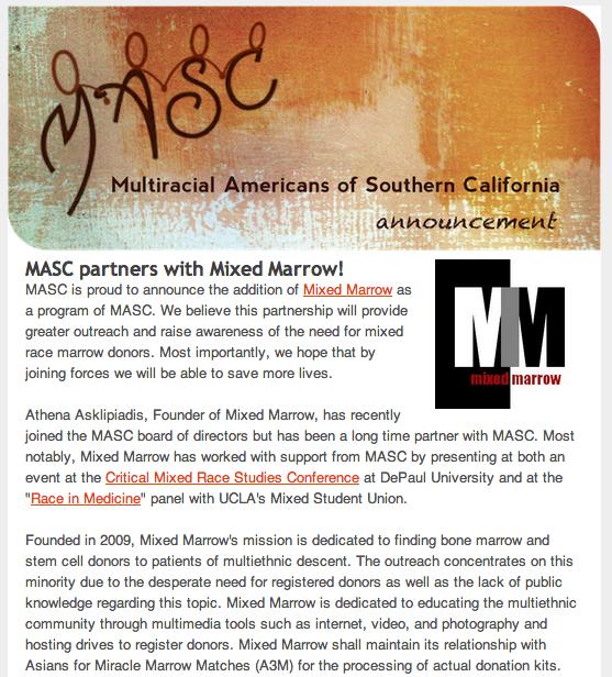 MASC Mixed Marrow Announcement